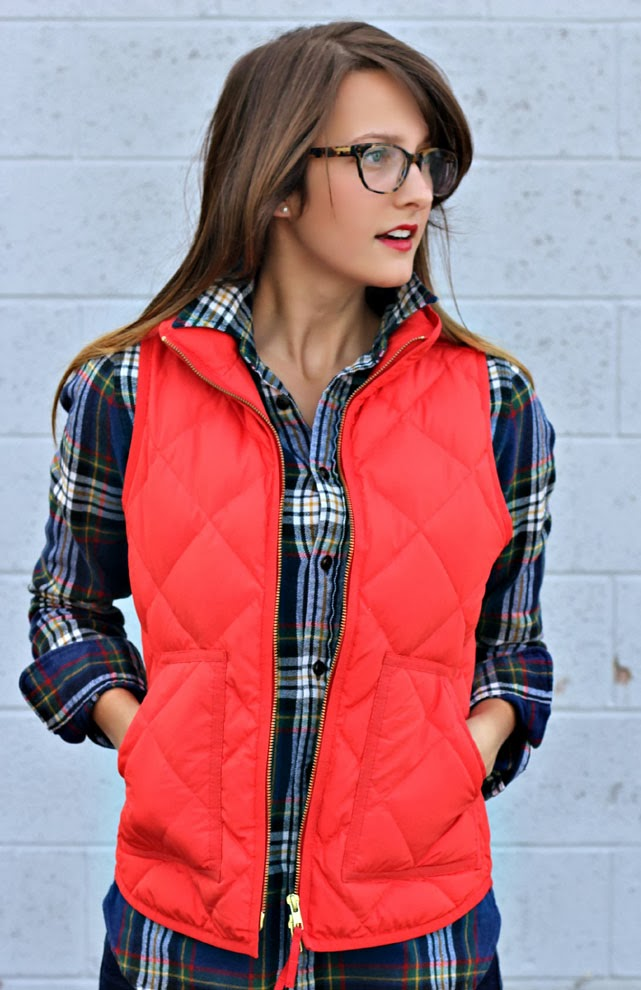 flannel + a quilted vest