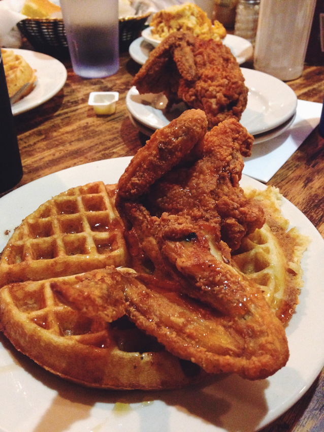 Fried chicken waffles finding beautiful truth for Amy ruth s home style southern cuisine