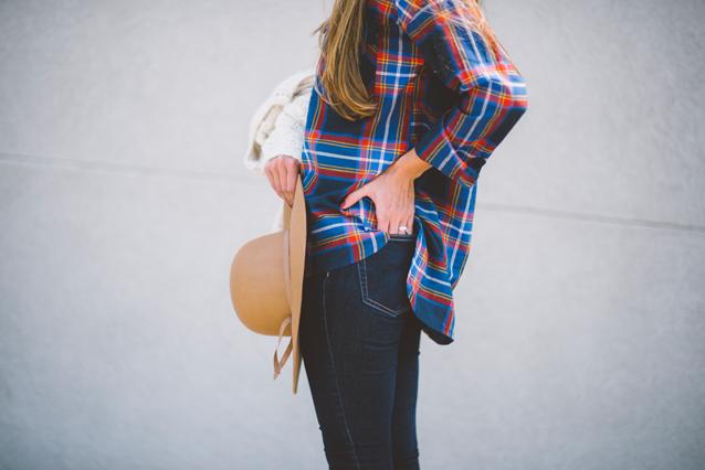 finding beautiful truth, fall layers, plaid tunic