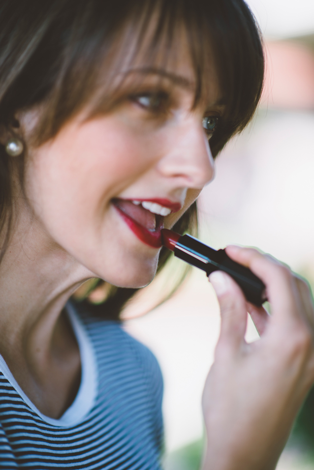 finding beautiful truth, red lipstick, transitional makeup