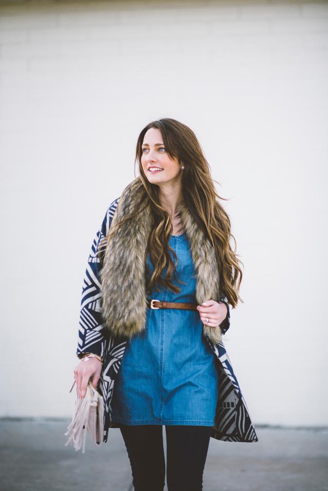 denim tunic, finding beautiful truth, pattern coat
