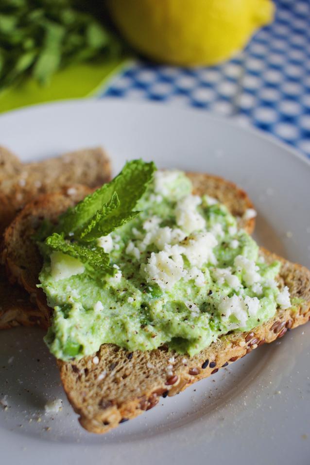 pea ricotta toast, finding beautiful truth, brunch recipe