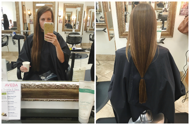 donation day, finding beautiful truth, donating hair to charity