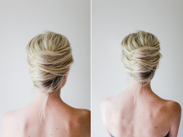 updo ideas: the romantic french twist via Finding Beautiful Truth