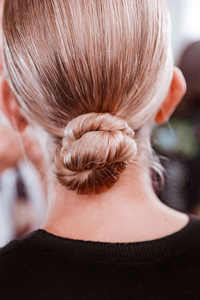 updo ideas: the sleek twisted bun via Finding Beautiful Truth