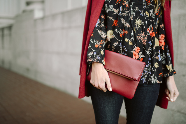 dark floral with denim | via Finding Beautiful Truth