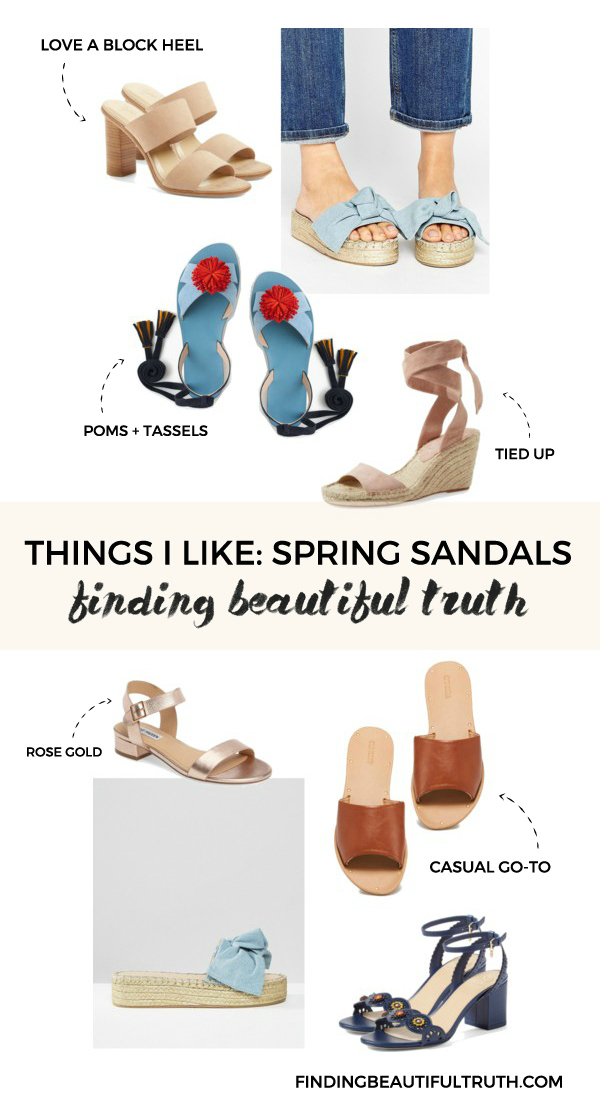 spring sandal edit for 2017 | via Finding Beautiful truth