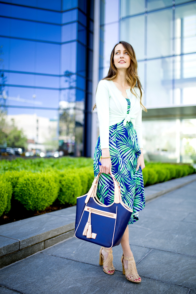 how to style a palm print dress | via Finding Beautiful Truth