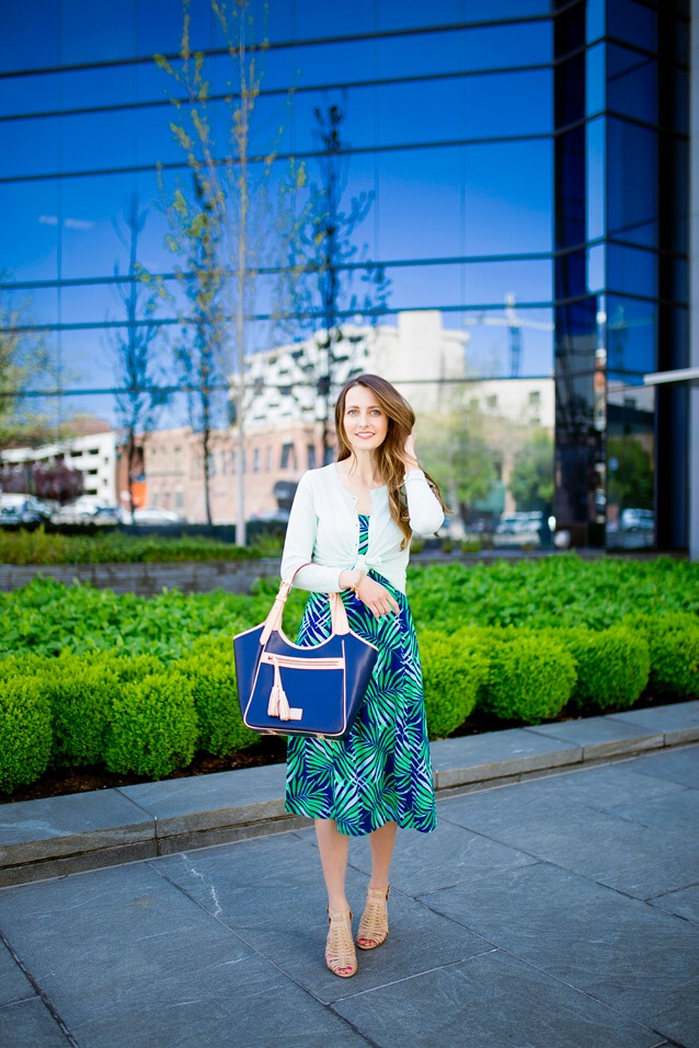 how to style a palm print dress for date night | via Finding Beautiful Truth
