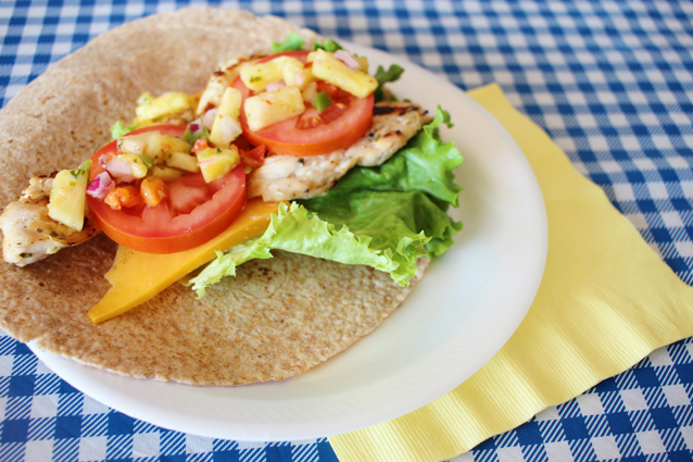 summer bbq tips + grilled chicken wrap recipe   via Finding Beautiful Truth