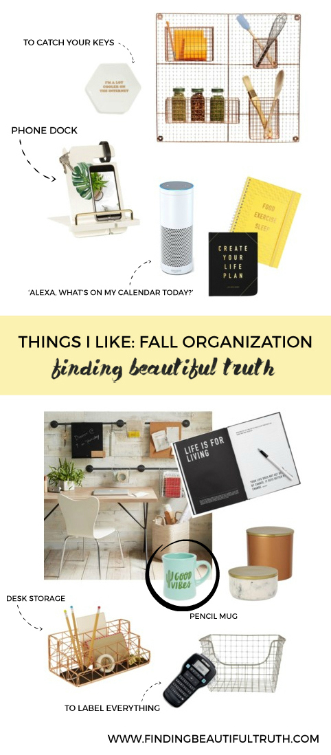 fall organization must-haves to get your place ready for the back-to-school rush | via Finding Beautiful Truth