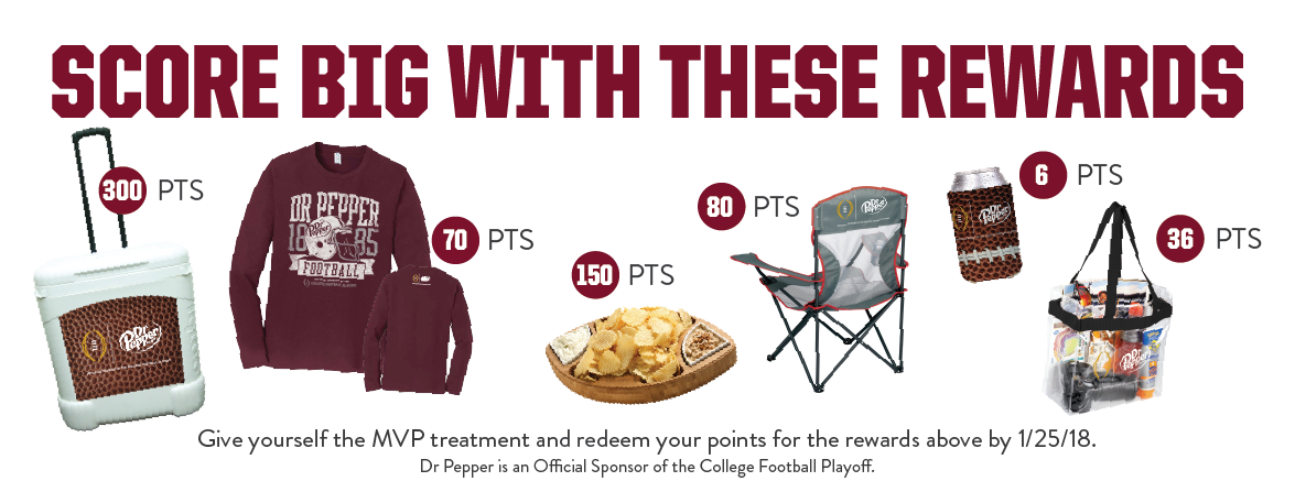 at-home tailgating with dr pepper