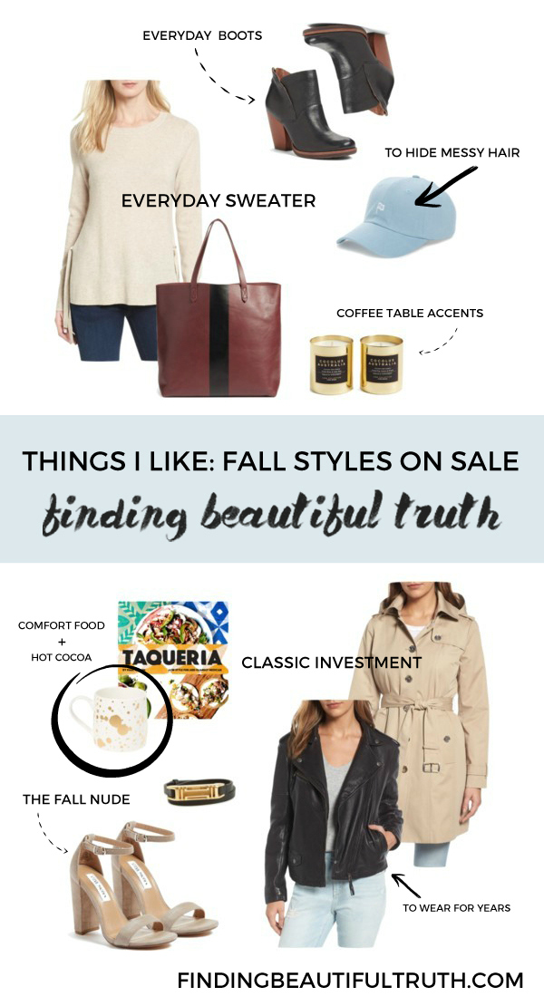 fall styles that are currently on sale | via Finding Beautiful Truth