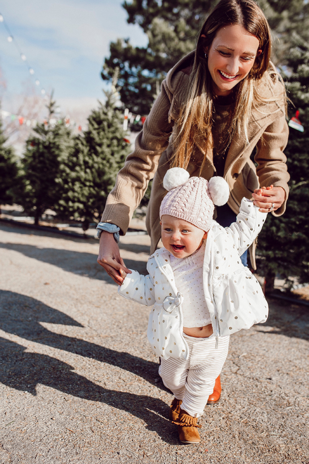 shopping for Mary Jane's first Christmas tree   via Finding Beautiful Truth