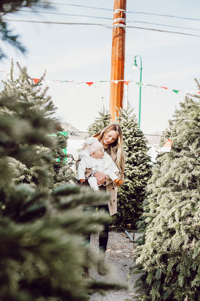 shopping for Mary Jane's first christmas tree | via Finding Beautiful Truth
