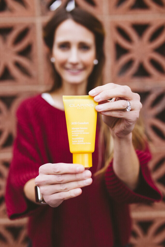 self-care with Clarins Face Mask   Finding Beautiful Truth