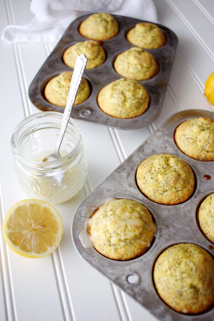 easy lemon poppy seed muffin recipe + lemon glaze for brunch   Finding Beautiful Truth