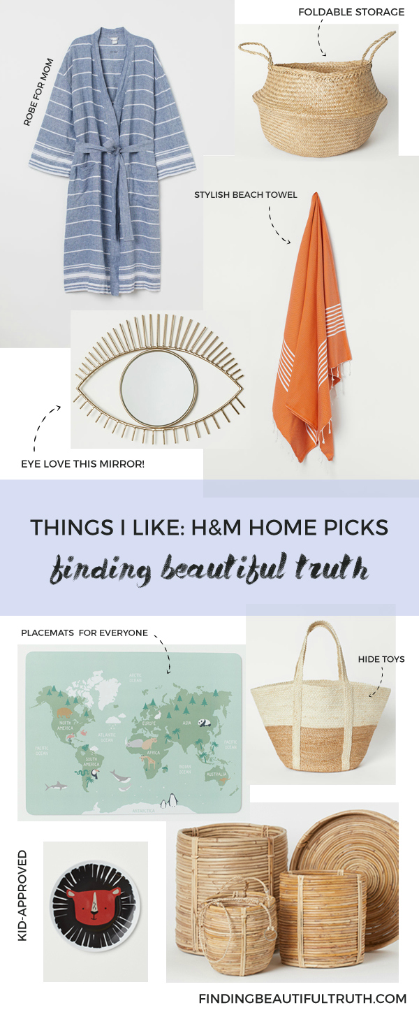 things I like: h&m home summer 2019 collection | Finding Beautiful Truth
